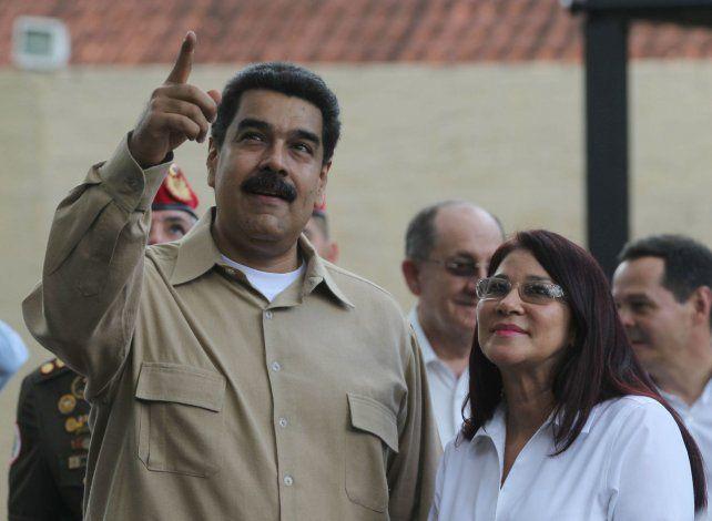 Mutismo. La pareja presidencial venezolana evitó hasta el momento hacer un pronunciamiento sobre el caso.