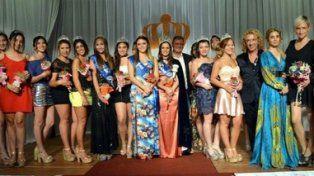 Bellezas. Candidatas a reina y princesas que participarán el 26 de noviembre.