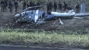 siniestrado. El helicóptero del Bope cayó el sábado en Cidade de Deus.