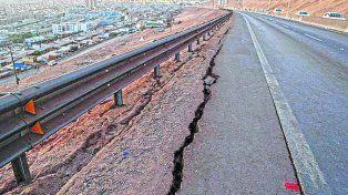 en chile. El sismo se sintió con fuerza en el país trasandino
