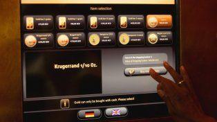Así funciona el primer cajero automático que entrega lingotes de oro