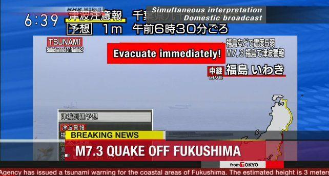El sismo se registró a las 6 de la mañana de este martes en Fukushima.