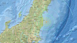 Imagen satelital de la zona donde hay alerta de tsunami en Japón.