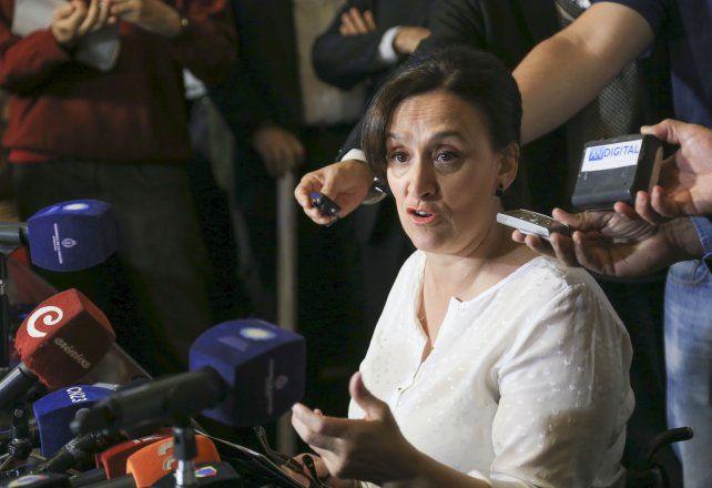 Argumentos. Michetti brindó ayer una conferencia de prensa en el Senado.