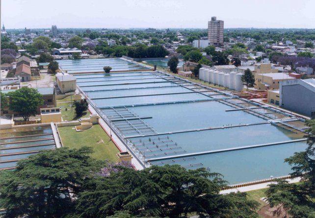 La planta potabilizadora de Arroyito. El aumento del agua llegará al 89 por ciento.