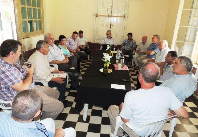 Presidentes comunales y representantes de los trabajadores forestales