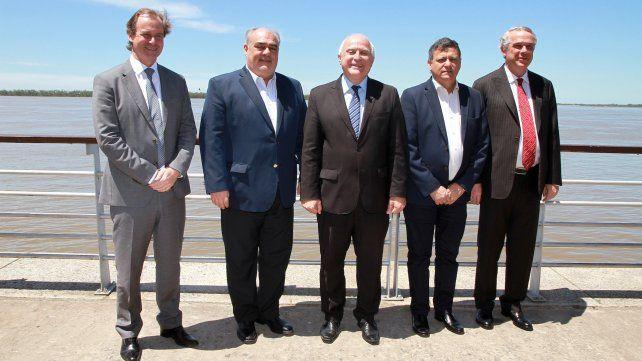 Lifschitz junto a los gobernadores Gustavo Bordet (Entre Ríos)