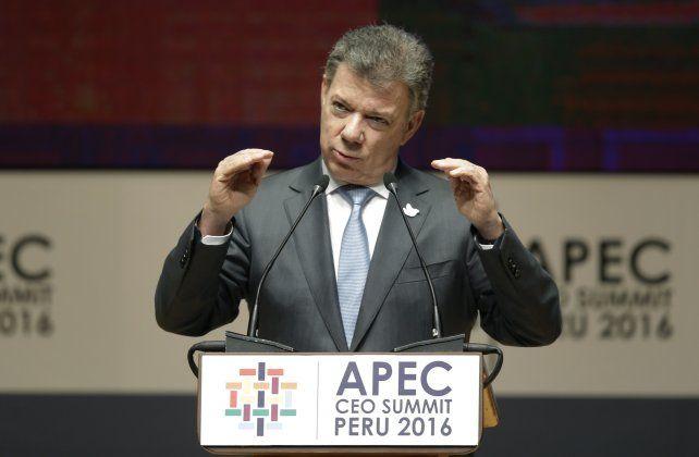 El presidente de Colombia Juan Manuel Santos.