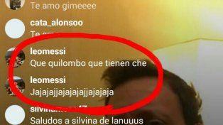 Messi stalkea a un actor argentino y le hace comentarios en Instagram