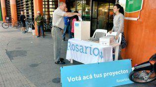 Los rosarinos votan en el Presupuesto Participativo.
