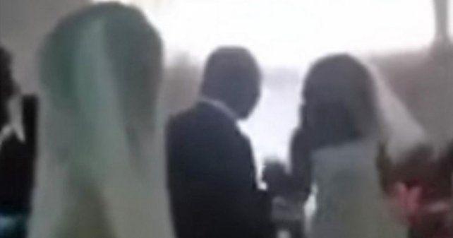 Tremendo escándalo en un casamiento cuando apareció la amante del novio vestida de novia