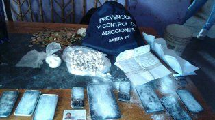 Los elementos secuestrados en los dos operativos antidrogas en San Lorenzo.