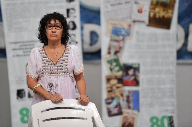 Sonia Alesso titular del gremio Amsafé a nivel provincial.