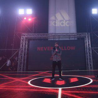 La Pulga habló con la prensa en la presentación de los botines Adidas Messi16 del pack Red Limit, en Barcelona.