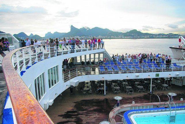Imperdible. La llegada del buque a Río de Janeiro