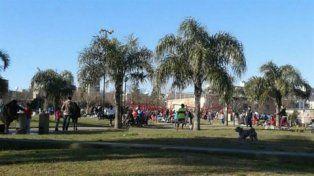 Penoso. El parque Irala fue el escenario del demencial ataque.