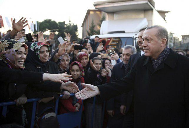 Tensión. El presidente turco