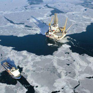 La muestra. En el mar de Kara, arriba de Siberia, el hielo no termina de reconstituirse durante el invierno.