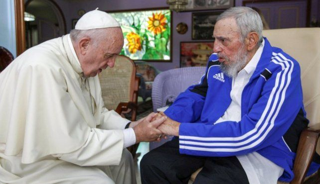 Francisco visitó este año Cuba y se reunión con el expresidente.