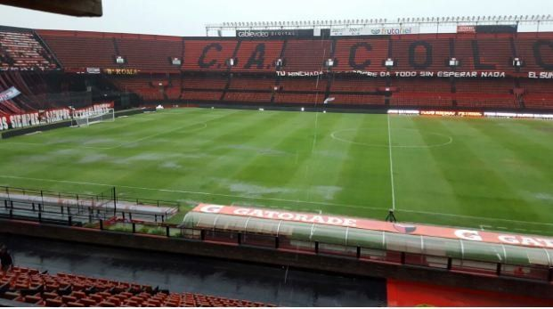 El estado del campo de juego del estadio Brigadier López