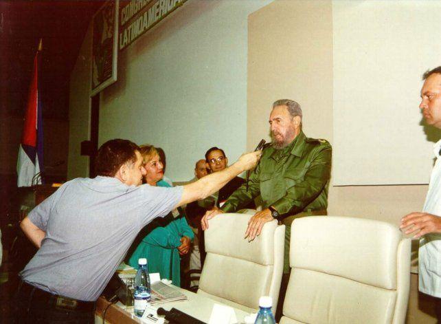 Momento. El 8 de octubre de 2001 en La Habana