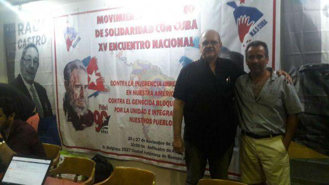 Militancia. Norberto Galiotti y Guillermo Cabruja integran el PCA y la Multisectorial.