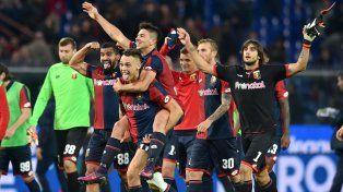 Gio Simeone se despachó con un doblete en el triunfo de Genoa sobre el líder Juventus