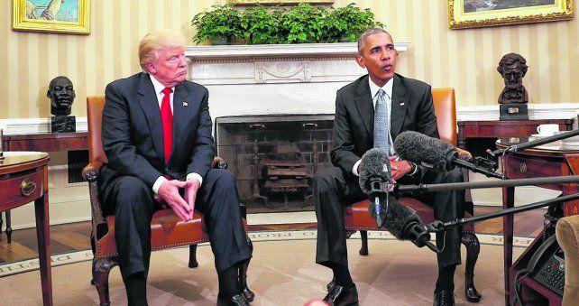 opuestos. Obama recibió a Donald Trump el 10 de noviembre