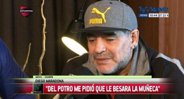 Maradona destacó el triunfo en la Copa Davis.