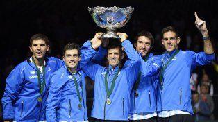 La foto que utilizó Messi para felicitar al equipo argentino de Copa Davis.