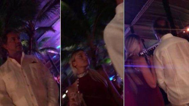 Las imágenes de Scioli en Punta Cana fueron difundidas a través de las redes sociales.