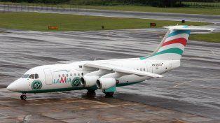 El avión siniestrado pertenece a la empresa Lamia.