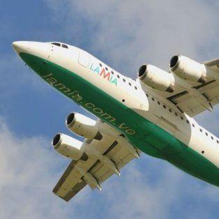 El Avro Regional Jet 85 matrícula CP-2933, perteneciente a la empresa LAMIA, que estrelló anoche en Colombia con el plantel de Chapecoense.