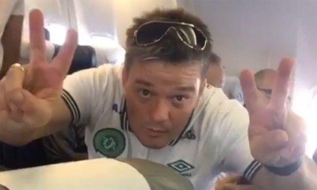 El video que publicó uno de los jugadores de Capecoense antes de que despegue el avión