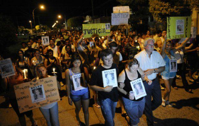La marcha realizada por familiares
