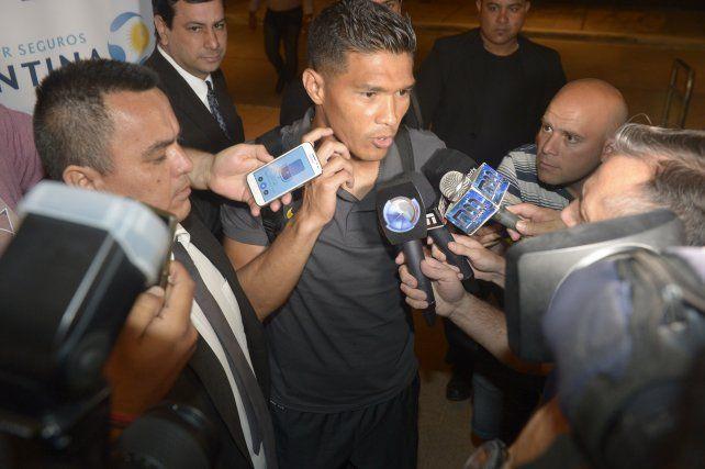 Teo Gutiérrez fue uno de los pocos jugadores que habló cuando llegaron a Formosa.
