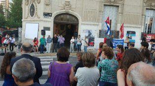 Dirigentes políticos y sociales emularon la Tribuna Antiimperialista.