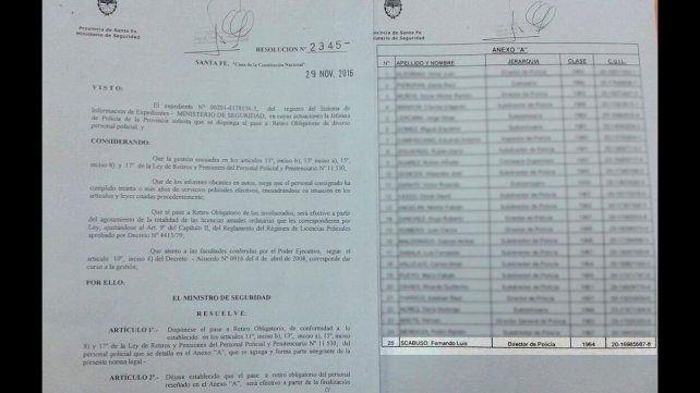 La provincia dice que el jefe de la Brigada Aérea no renunció, fue pasado a retiro obligatorio