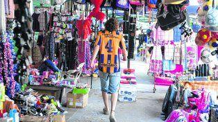 Para todos los gustos. La feria popular ofrece desde productos de electrónica hasta regalería e indumentaria.
