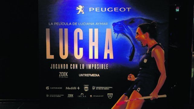 De película. Luciana ya tiene su filme. Ayer elogió al equipo masculino que logró el oro en los Juegos Olímpicos.
