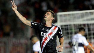 Alario convirtió el gol que sentenció el triunfo de River sobre Gimnasia.