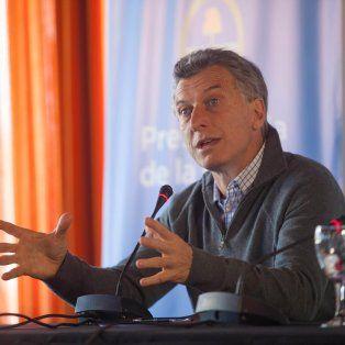 Macri brindó una conferencia de prensa en el cierre del encuentro con su gabinete en Chapadmalal.
