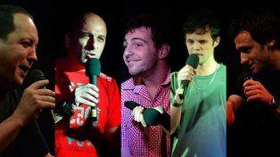 En escena. Fernando Gulin, José Oronel, Ramiro Díaz López y Mauro Aguilar.