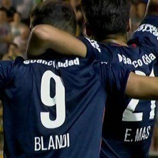 Blandi conquistó el gol de la victoria de San Lorenzo, que quiere pelear arriba.
