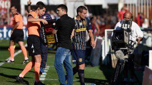 Marco Ruben salió lesionado y luego Central cayó frente a Unión en Santa Fe.