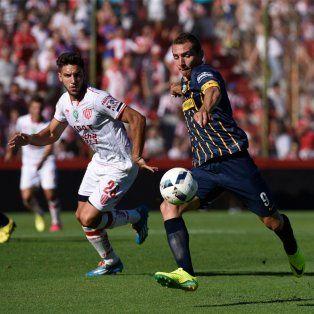 Marco Ruben salió lesionado en la caída de Central ante Unión.