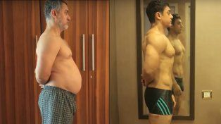 La increíble transformación del actor Aamir Khan en cinco meses.