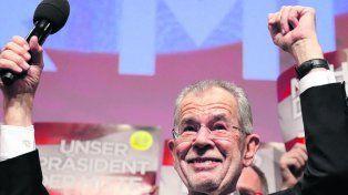 Contundencia. El electo presidente Alexander Van der Bellen.