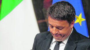 Todo o nada. Renzi se mostró muy dolido por la derrota. Hizo de la consulta un plebiscito sobre su gestión.