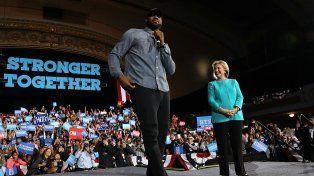 El jugador de la NBA apoyó abiertamente la candidatura de Hillary Clinton.